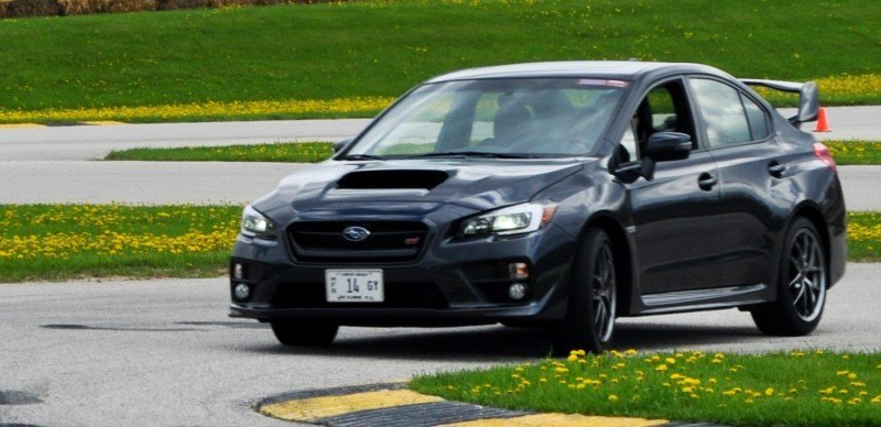 Track Test Review - 2015 Subaru WRX STI Is Brilliantly Fast, Grippy and Fun on Autocross 16