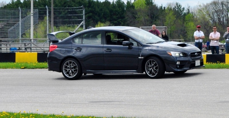 Track Test Review - 2015 Subaru WRX STI Is Brilliantly Fast, Grippy and Fun on Autocross 24