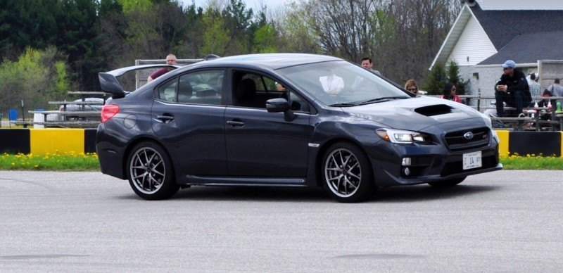 Track Test Review - 2015 Subaru WRX STI Is Brilliantly Fast, Grippy and Fun on Autocross 25