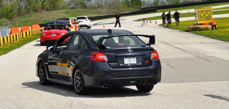 Track Test Review - 2015 Subaru WRX STI Is Brilliantly Fast, Grippy and Fun on Autocross 7