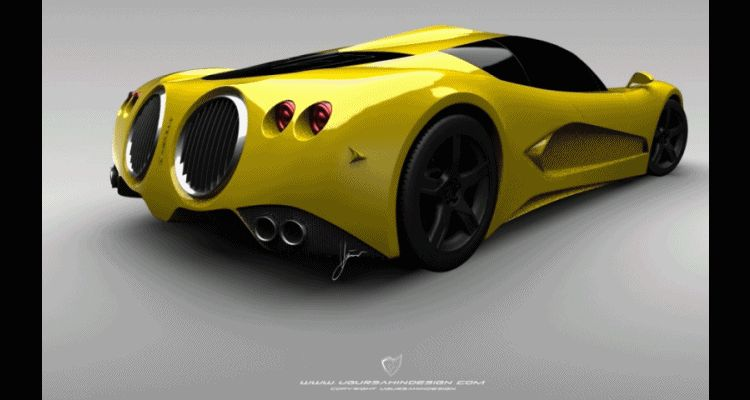 Ugur Sahin Design HYPERCAR bugatti possible round vents GIF HEADER