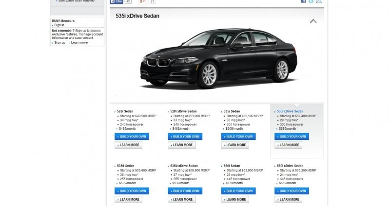 Update1 - Road Test Review - 2013 BMW 535i M Sport RWD - Buyers Guide to Trims and Cool Options 4
