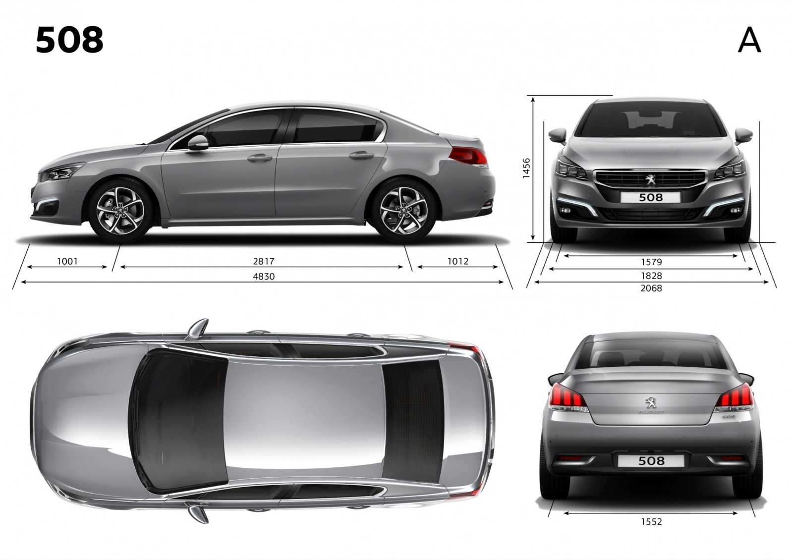 Update2 New Photos - 2015 Peugeot 508 Facelifted With New LED DRLs, Box-Design Beams and Tweaked Cabin Tech 12