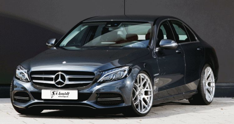 VOLKER SCHMIDT 2015 Mercedes-Benz C-Class Is Low and Lean With New Springs and Wheels gif