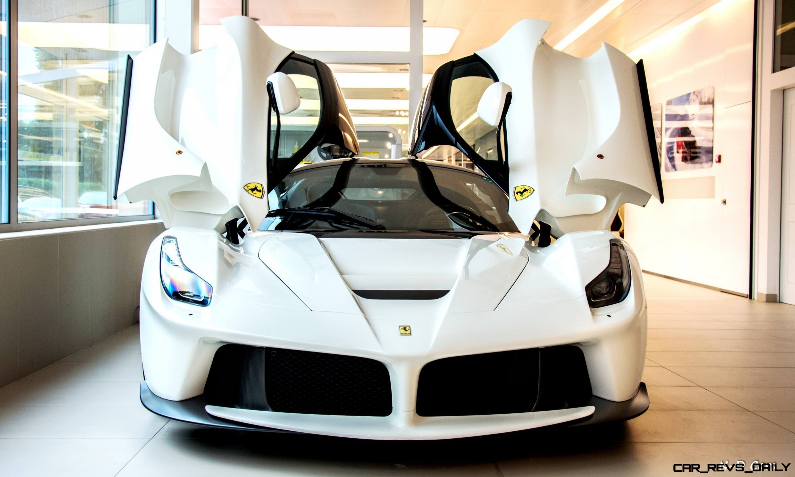 White Laferrari Snapped In Geneva This Week By N D Photography