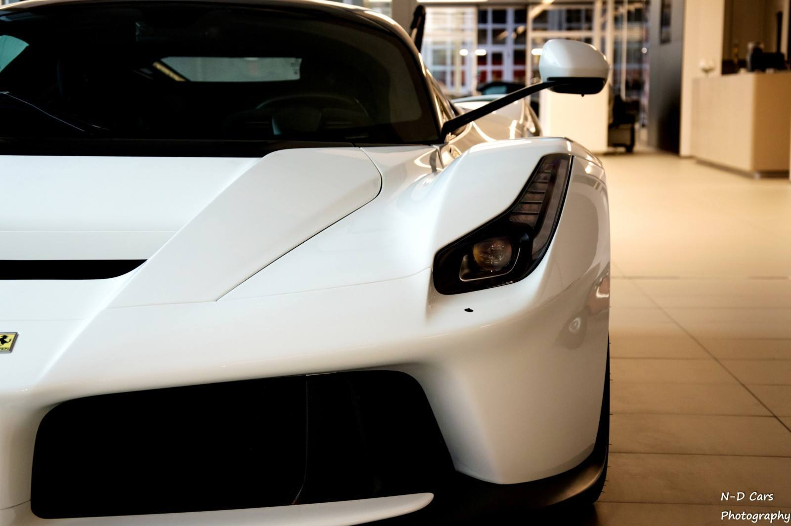 White LaFerrari Snapped in Geneva This Week by N-D Photography 6
