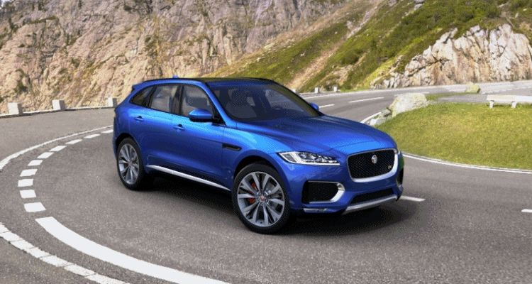 f-pace jaguar 2017 first edition blue animated flyaround