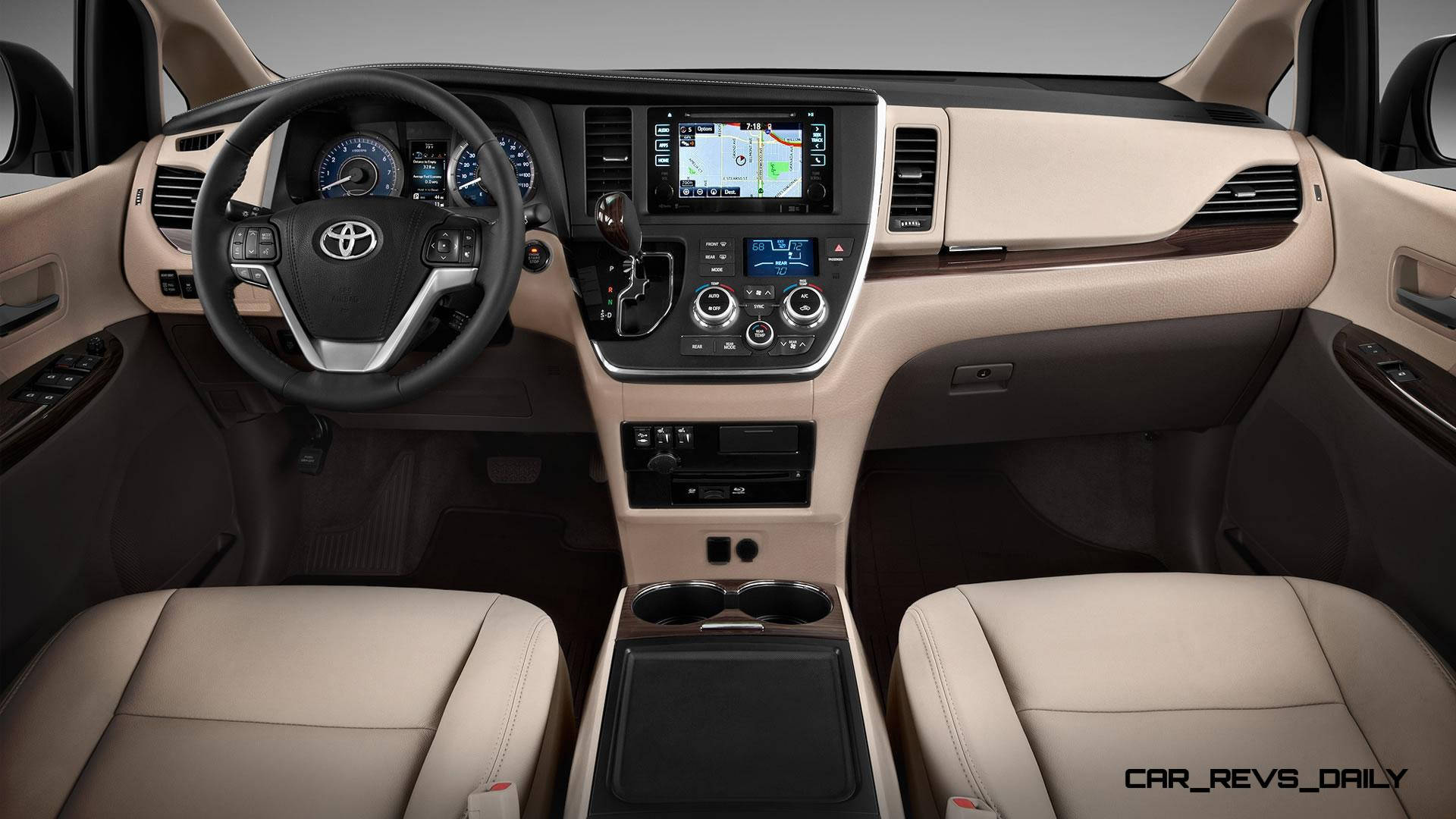 2015 toyota sienna brings refreshed touchscreens dark. Black Bedroom Furniture Sets. Home Design Ideas